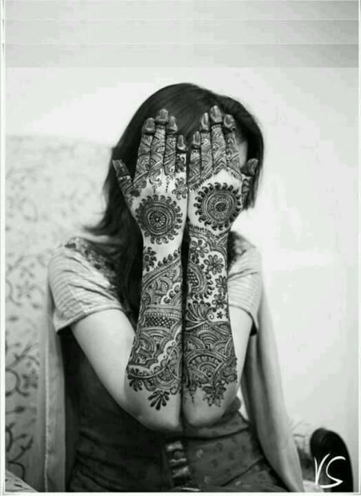 mehandi designs for brides full hand