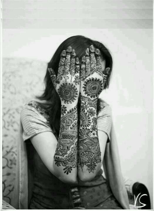 mehandi designs for brides full hand