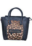 leopard prints www.misstella.com - Handbag/cross body bag with leopard print - F02548 - €32,95