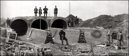 Great British Inventions - Modern Sewerage Systems (1865). The creator of the London sewers, Joseph Bazalgette, may be remembered as more of an engineer than an inventor, but developing the largest sewage system the world had ever seen in London changed life in the city completely. The previous system – an open sewer – tipped waste into the Thames but this new invention pumped it eastwards out to sea.