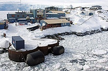 Palmer Station, on Anvers Island, is Antarctica's only US station north of the Antarctic Circle. Initial construction of the station finished in 1968.