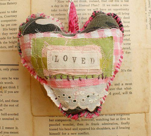 cammo love heart ornament by grrl+dog, via Flickr
