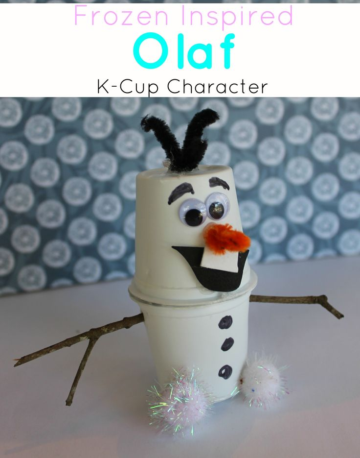 Super cute #Olaf craft made from K-Cups #Frozen #crafts