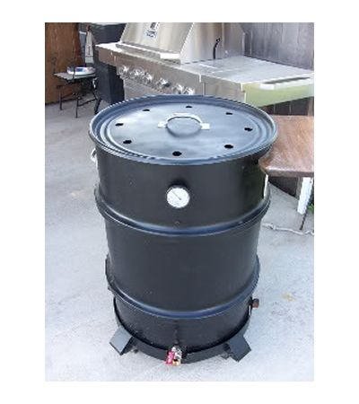 DIY 55 Gallon Drum Smoker Plans - Simple step by step instructions to re-purpose an old barrel into a smoker