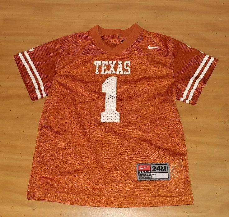 Nike NCAA Texas Longhorns Football Jersey #1 Boys Size 24M #Nike #Everyday