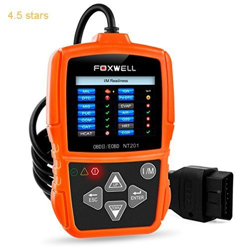 OBD2/OBD II Car Engine Diagnostics Code Reader Auto Diagnostic Scan Tool Automotive Scanners for 2000 or Later US European and Asian OBDII Vehicle (Foxwell NT201 Orange)