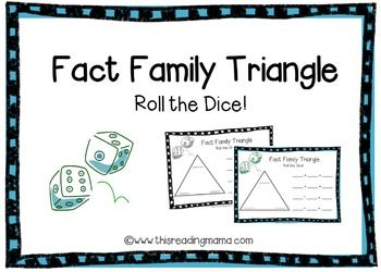 This FREE fact family triangle game pack includes fact family triangle recording sheets for addition, subtraction, multiplication AND division! Students simply roll two dice to practice fact families. Use the triangle game boards to write the three numbers created from two dice, then use that information to write out four related number sentences for either addition, subtraction, multiplication and division.Example pages are included and triangle game boards come in color or black and white.