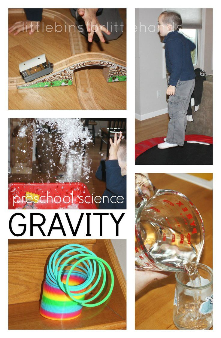 Gravity Science Preschool Science Activity Science Around The House