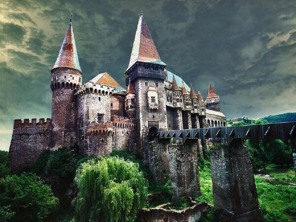 Abandoned castle in Transylvania