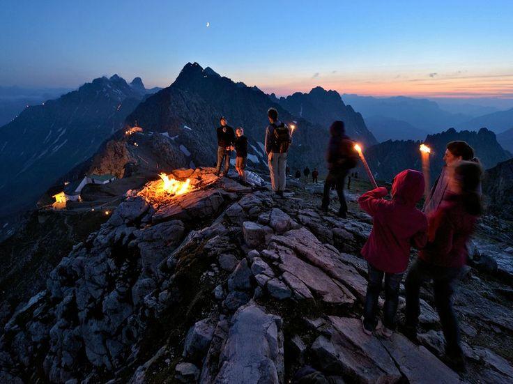 Nordkette Mountain near Innsbruck, Austria (Celebrates Sonnwendfeuer)