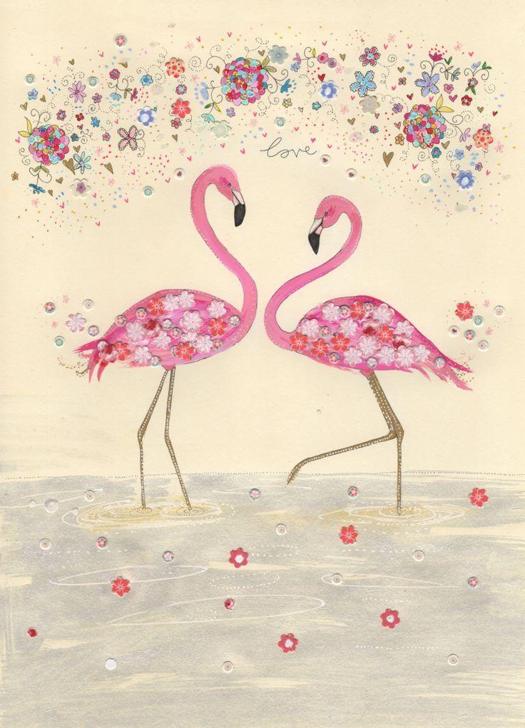 Flamingo. Flamingo Love / A4 print. Home decor, kids wall ...