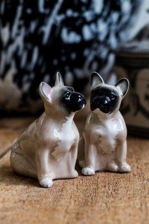 Salt- och pepparkar föreställande två Franska bulldogs.