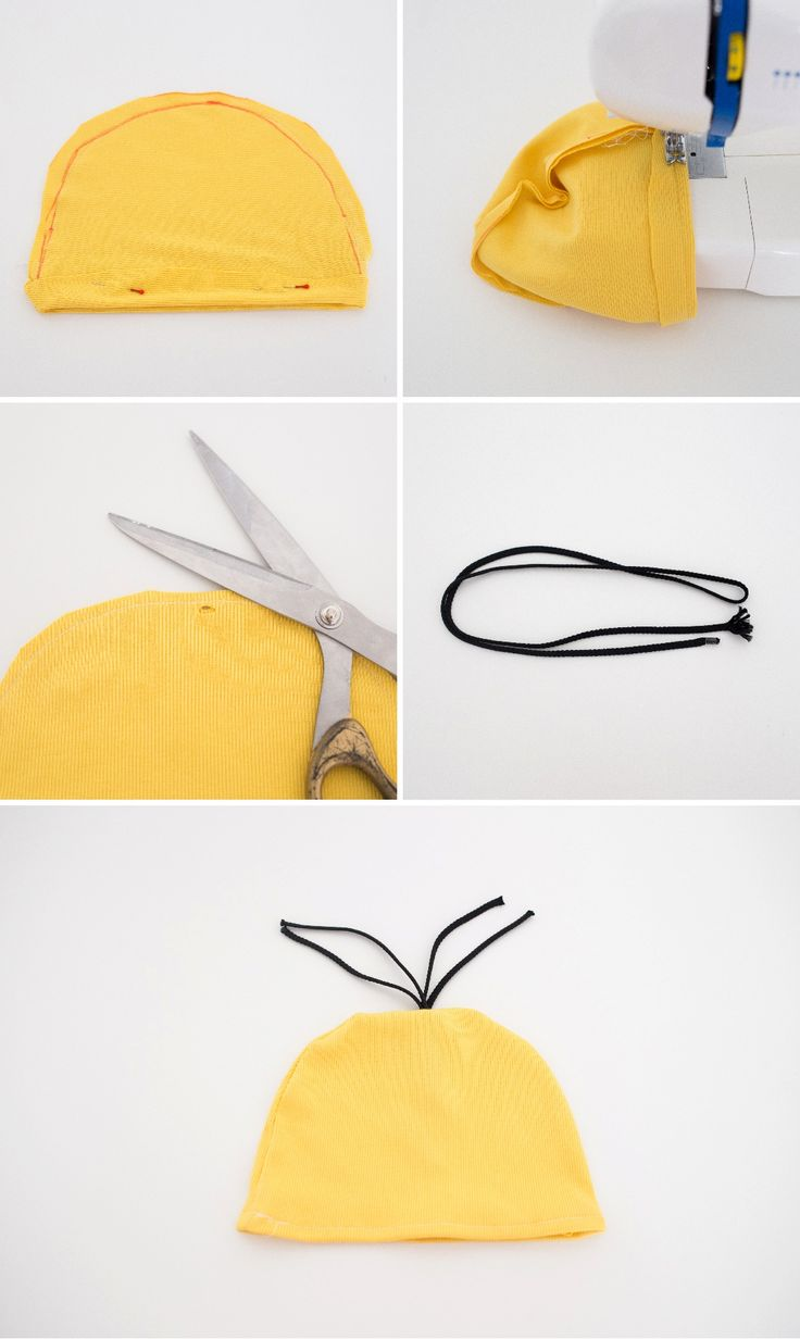 Here's how to DIY a Minions beanie for your Minion Halloween costume.