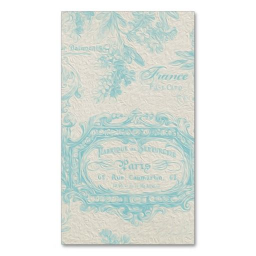 23 best business cards images on pinterest business cards carte vintage french country blue painting business card templates reheart Gallery