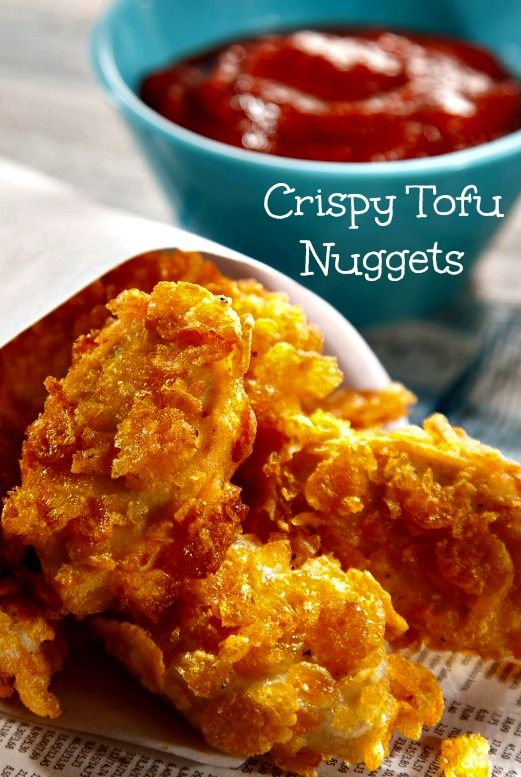 Crispy Tofu Nuggets | Use for frozen tofu, makes a chewier nugget.