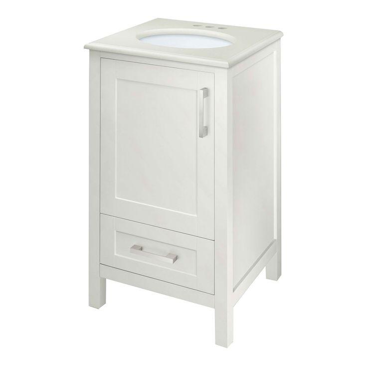 Contemporary 20 Inch Bathroom Vanity Set With Single Oval Undermount Sink
