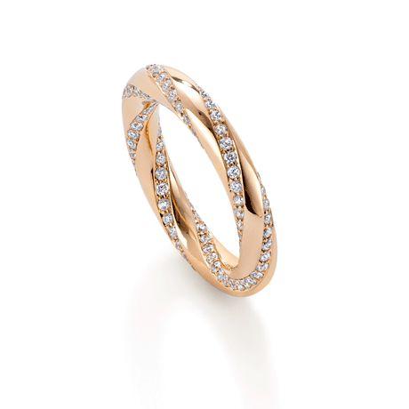 Fortune Trio Rose Gold Diamond Ring--I wish!