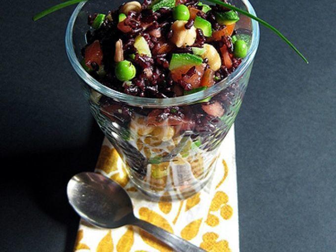 Una ricetta gustosa - Ricetta Portata principale : Riso venere primaverile da Arietta