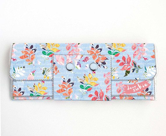 Check out this item in my Etsy shop https://www.etsy.com/ca/listing/512187204/vinyl-long-wallet-joyful-spring3-floral