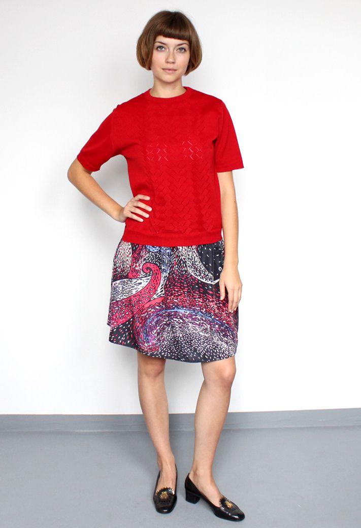 vintage/silk pattern skirt/aevintagestore http://www.aevintagestore.com