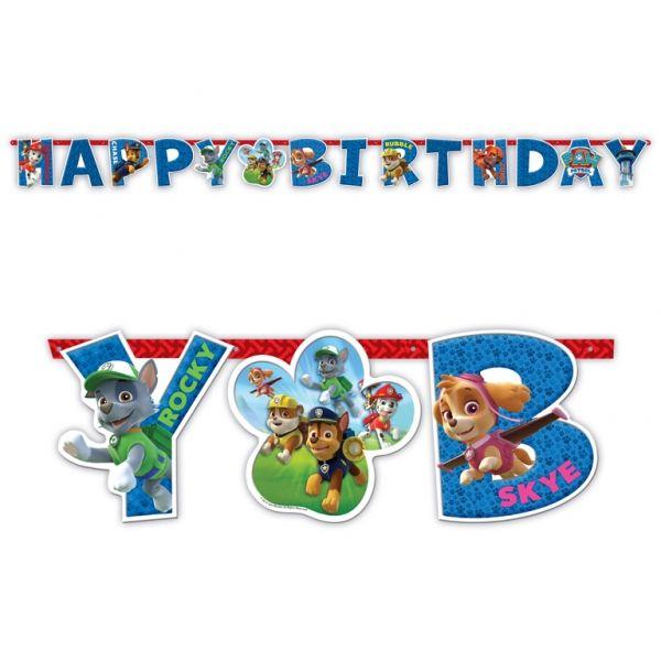 Festone Happy Birthday Paw Patrol Confezione: 1 pz.