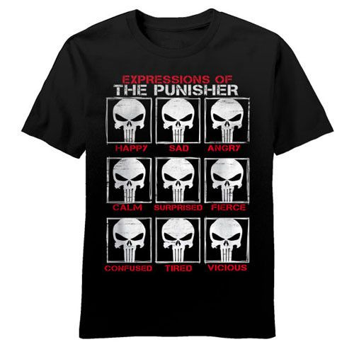 Punisher Skull Emotes Mens T-Shirt