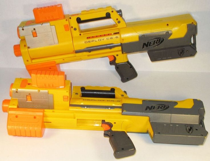 Nerf N-Strike Deploy CS-6 lot of 2w/ 4 clips Light Built-in Sight Tested No Ammo #NERF
