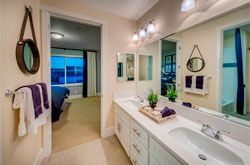 A Master Bath you've been dreaming of with the Colton plan. Find your vacation lifestyle at your new home at East Garrison today in Monterey County!