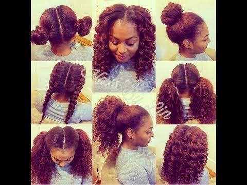 How to Do a 4 way Vixen ( CROCHET BRAIDS ) Natural Hair Style - YouTube