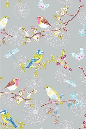 PiP Early Bird Grey Wallpaper