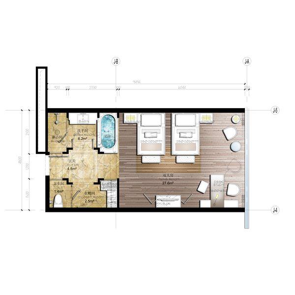 67 best hotel rooms layout plan images on pinterest. Black Bedroom Furniture Sets. Home Design Ideas