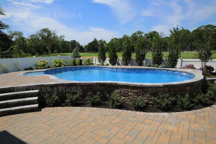 Semi Inground — Brothers 3 Pools