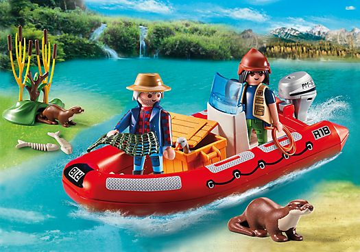 Playmobil Inflatable Boat with Explorers