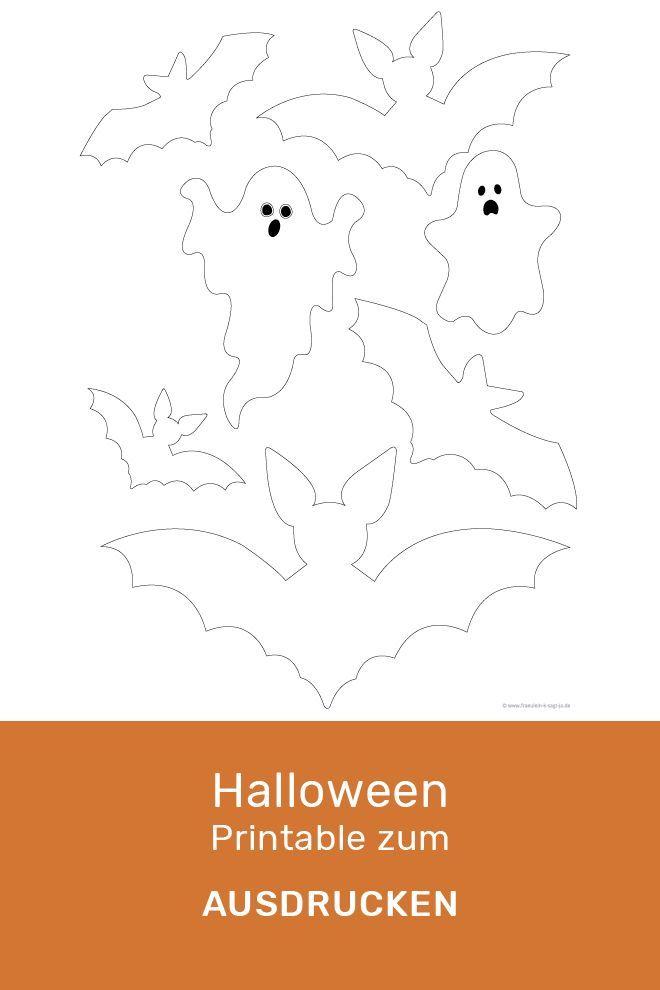 Halloween Diy Bastelvorlage Zum Ausdrucken Fraulein K Sagt Ja Halloween Diy Halloween Diy Crafts Halloween Kids