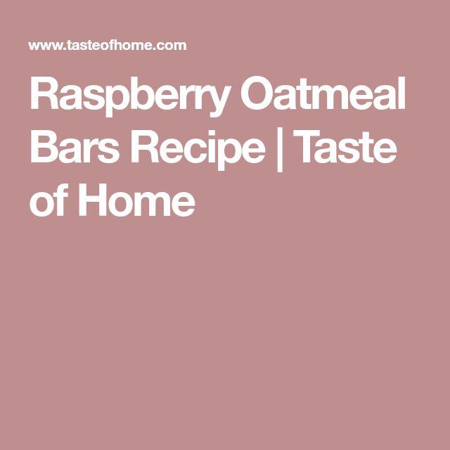 Raspberry Oatmeal Bars Recipe   Taste of Home