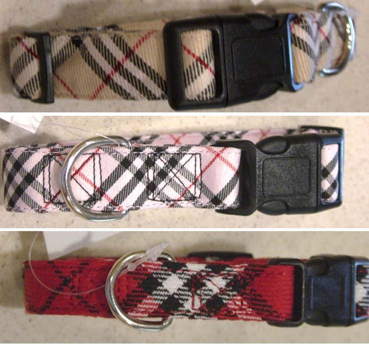We offer tan, red and pink Burberry-like plaid dog collars and plaid dog leads. We offer wide variety of plaid dog collars at the best prices.