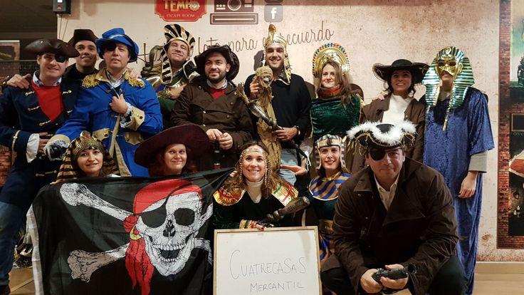 Jornada de Team Building de la empresa Cuatrecasas donde han disfrutado de 2 aventuras viajando al antiguo EGIPTO y a un Barco Pirata de la época del descubrimiento.