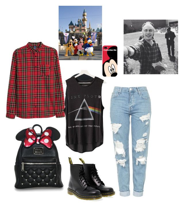 """""""Disneyland with Michael"""" by sugarplumpfairy2 ❤ liked on Polyvore featuring Nasaseasons, Floyd, Topshop, Dr. Martens and Disney"""
