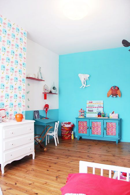 chambremy most favorite colored, patterned, layout, shelving, accessorized, designed, and decorated as a whole, childrens bedroom ever.. Childrens room decor, kids bedroom decor, kids decor, kids spaces, design for kids #KidsSpaces2014