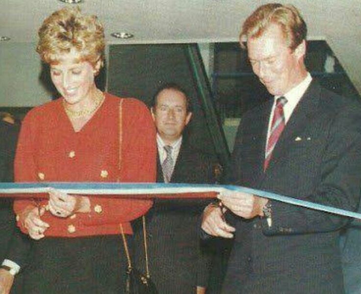 17 September 1993 Princess Diana opened the Britain in Luxembourg exhibition