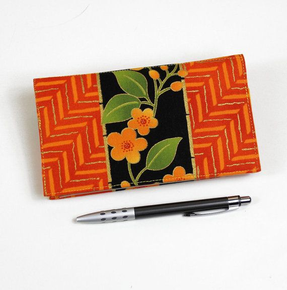 NEW Fabric Checkbook Cover for Duplicate Checks by QuiltSewCover