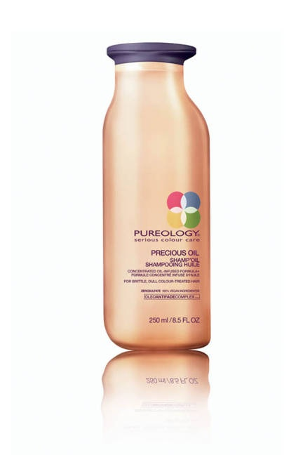 A new kind of moisture with #pureology oil shampoo #oilwashes