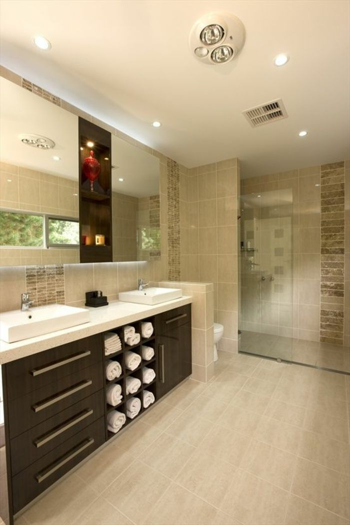 52 best Carrelage images on Pinterest Bathrooms, Beige bathroom - Stratifie Mural Salle De Bain