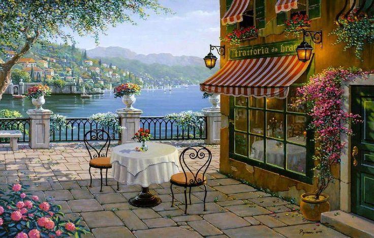 266 best folk art images on pinterest art populaire paysages et peintures l 39 huile. Black Bedroom Furniture Sets. Home Design Ideas