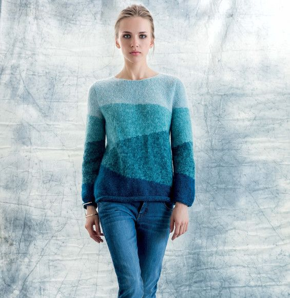 Pull bleu Phil Light Femme -     Modèles Gratuits Femme - Phildar