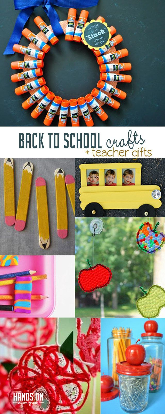 Back To School Crafts And Teacher Gifts Back To School Crafts