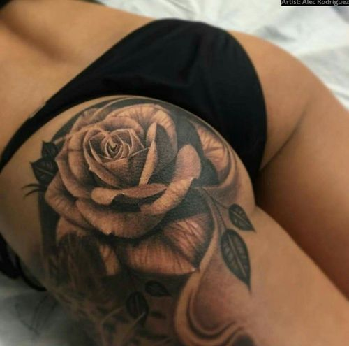 Imagem de tattoo and rose tattoo