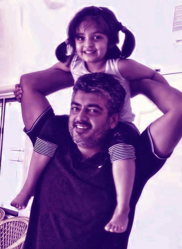 Ajith Kumar With his Daughter Anoushka