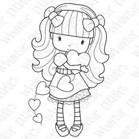 Nena abrazando corazones, Graficos Cute.