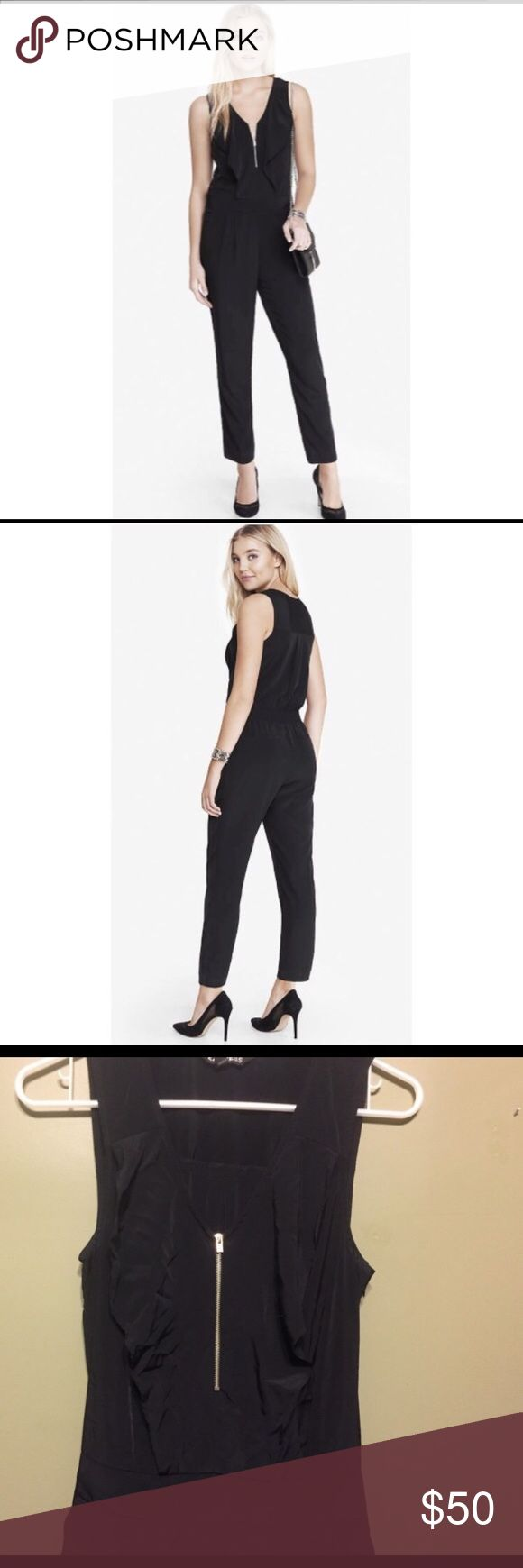Black Expess zip front romper. NWOT. ❤️ Black Expess zip front romper. PERFECT condition! Never worn! A little wrinkle from being packed away, but nothing the dry cleaners can't fix! Express Other